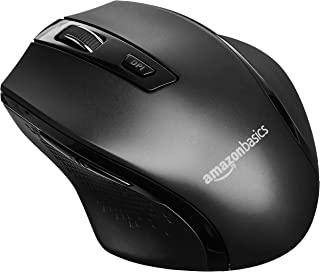 AmazonBasics, Mouse ergonómico inalámbrico para PC (DPI ajustable), Negro,