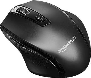 AmazonBasics Ergonomic Wireless Mouse - DPI adjustable, Black