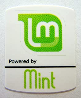 Powered by Mint Linux Sticker 19mm x 24mm [480]