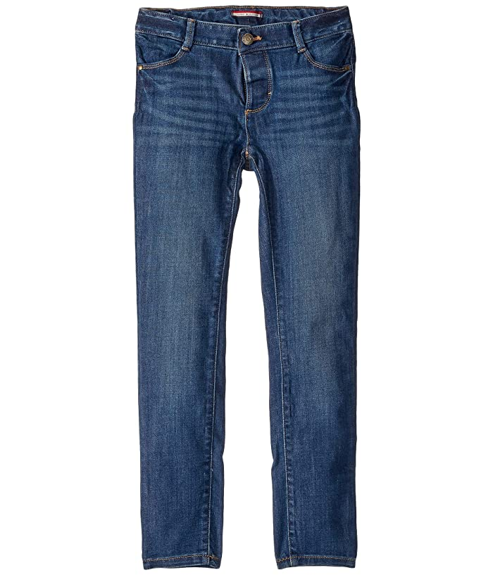Tommy Hilfiger Adaptive  Skinny Jeans with Adjustable Waist and Magnetic Hem (Toddler/Little Kids/Big Kids) (Toni Wash) Womens Jeans