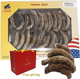 DABC OAK LAND AR 033 1LB=453gm/Box Wild Caught,Sun Dried Alaska Red Sea Cucumber All Natural Nutritious,阿拉斯加红刺海参高泡发 40~60pcs/LB AR 033#S Box