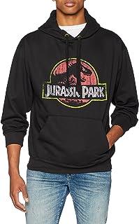 Jurassic Park Licenza Ufficiale Distressed Logo Uomo Maglietta Nera