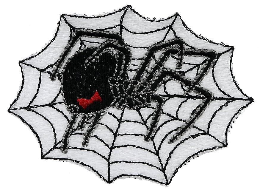 Black Widow Spider On Web 3x2 Inch Patch PPMT0267