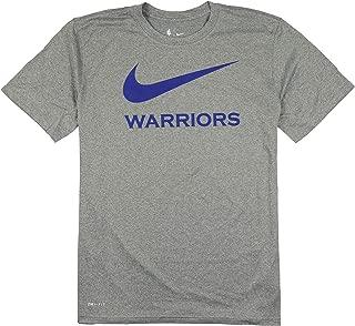 Nike Men's Golden State Warriors Swoosh Logo T-Shirt XX-Large Gray Blue