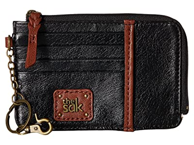 The Sak Iris Card Wallet (Black Onyx) Wallet Handbags