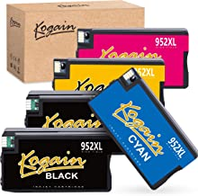 Kogain Remanufactured Ink Cartridge Replacement fo HP 952 952XL, Work with HP Officejet PRO 8710 8720 8740 7740 8210 8216 8730 7720 8702 8715 8716 8725 8727 Printer (2 Black 1 Cyan 1 Magenta 1 Yellow)