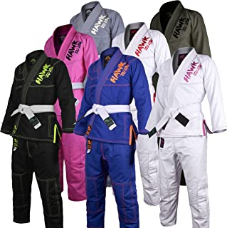 Kids Brazilian Jiu Jitsu Gi Children BJJ Gi Kimonos Lightweight Free White Belt!