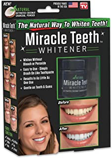 ONTEL Miracle Teeth Whitener | Natural Whitening Coconut Charcoal Powder | Gentle on Teeth and Gums and Removes Stains Cau...