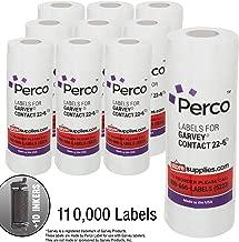 2212 White Pricing Labels for Garvey 22-6/22-7/22-8 Price Gun – 90 Rolls, 110,000 Pricemarking Labels – with Bonus Ink Rolls