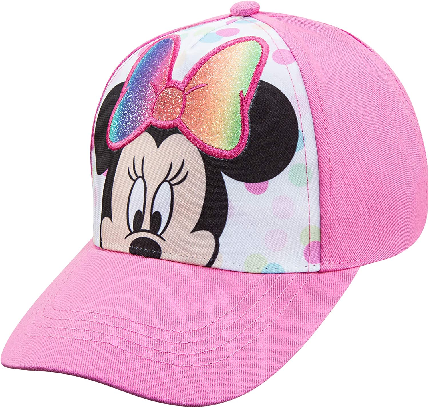 Disney Minnie Mouse Toddler Girls Pink Attached R Baseball Brand new Cheap mail order specialty store Cap -