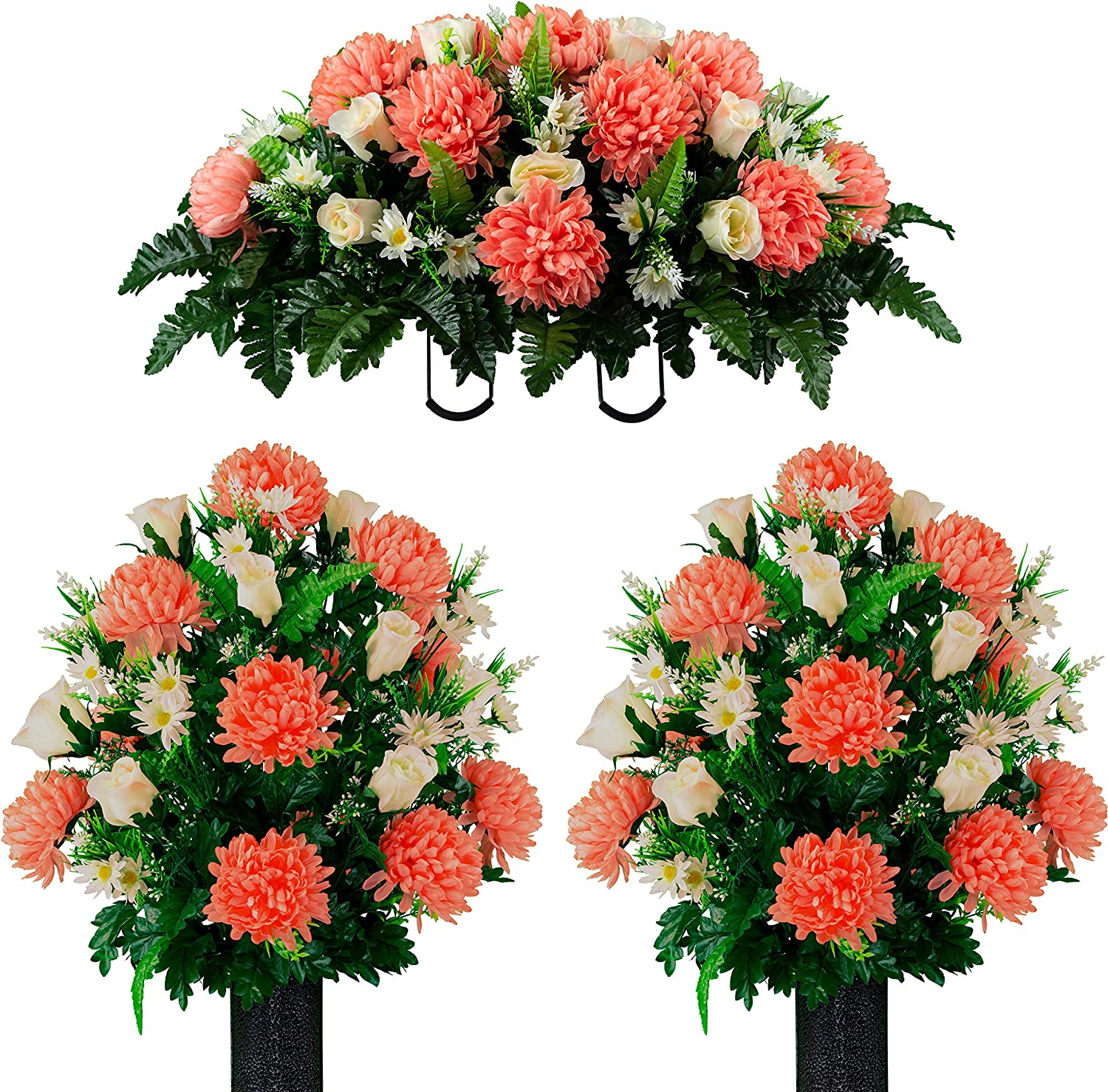 Cash special price Sympathy Silks Artificial Cemetery Realistic Flowers New arrival Vibr –
