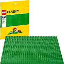 LEGO Classic Green Baseplate Supplement for Building, Playing, and Displaying LEGO Creations, 10 x 10 inches, Large Building Base Accessory for Kids and Adults