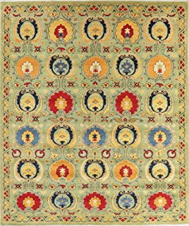 Kazak Area Rug Handmade Oriental Geometric Wool All-Over 8x10 Persian Carpet New (10' 3'' X 8' 6'')