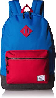 Herschel Kids' Heritage Youth X-Large Backpack, Imperial Blue Red/Black Crosshatch, One Size