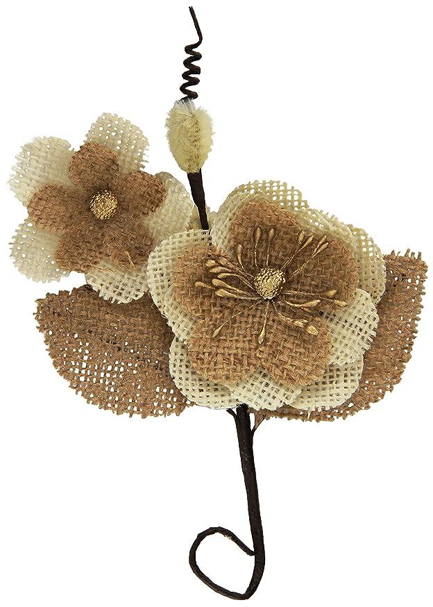 Prima Marketing Sylvan Canvas & Burlap Flower Stem-Bram