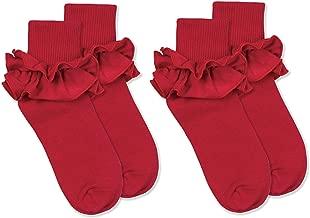 Jefferies Socks Girls Misty Ruffle Turn Cuff Socks 2 Pair Pack
