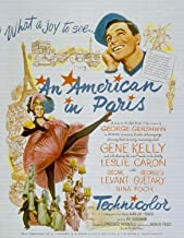 ODSAN An American in Paris, Gene Kelly, Leslie Caron, 1951 - Foto-Reimpresión película Posters 28x36 pulgadas - sin marco