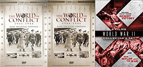 World War II Archival Footage Collection - Desert Victory and How Hitler Lost the War & The World in Conflict 1931-1945 3-DVD Bundle