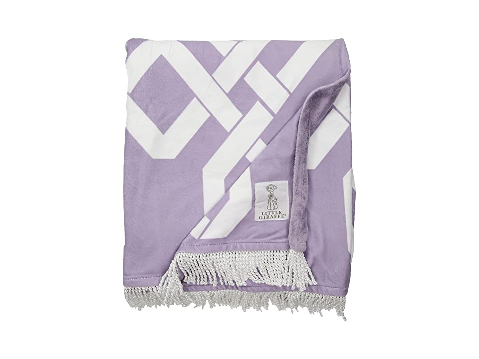 Little Giraffe Bliss Windowpane Throw (Lavendar) Accessories Travel, Purple