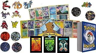 50 Assorted Pokemon Cards - 5 Rares, 5 Reverse Holos, 40 Cards, 1 Pokemon Coin, and 1 Pokemon Pin - All Cards Guaranteed A...