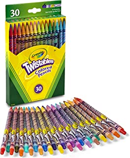 Crayola 68-7409 Twistable Colored Pencils, 30 Count, Stocking Stuffer, Gift, Assorted