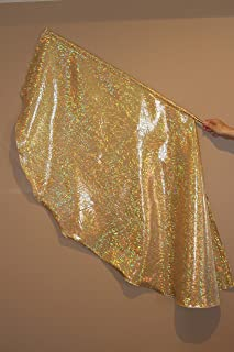 Banners of Worship,Inc Hologram Gold Flag/PRAISE DANCE WORSHIP FLAGS PROPHETIC DANCE WORSHIP FLAGS