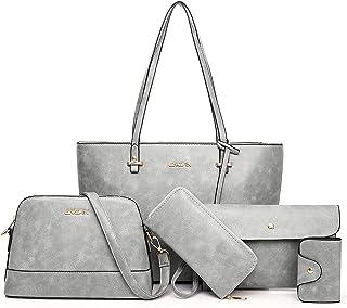 女性用ハンドバッグ、通勤用ショルダーバッグ、財布、トートバッグセット、大容量バッグ