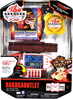 Bakugan Spin Master Gundalian Invaders Ultimate Brawler Tool Accessory Set - BAKUGAUNTLET with Bracelet Snap, 3 Exclusive Ability Card and 1 Bakucoin
