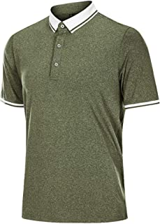 Men's Polo Shirts Short Sleeve Quick Dry Performance Athletic Casual Golf T Shirt
