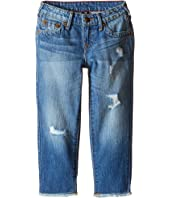 "True Religion Kids - Audrey Destructed ""Boyfriend"" Jeans in Breeze Blue (Toddler/Little Kids)"