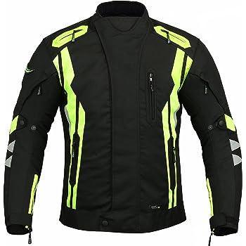 Gris Argent/é, XL EU 52-54 JET Blouson Veste Moto Homme Imperm/éable Homologu/é Armure Textile Striker