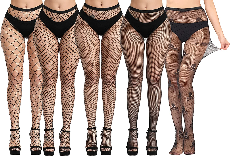 Women's Fishnet Tights Pantyhose Thigh High Waist Sexy Mesh Stockings