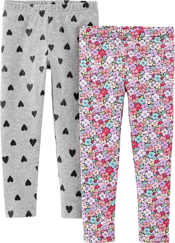 Carter's Girls' 2-Pack Leggings: Clothing