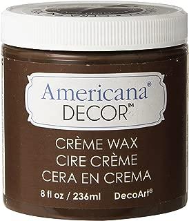 DecoArt ADM8-07-36 Americana Decor Creme Wax, 8-Ounce, Deep Brown