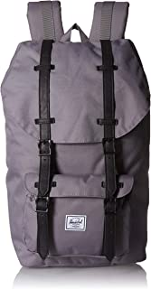 Herschel Supply Co. Little America Flapover Backpack, Grey/Black, Classic 25L