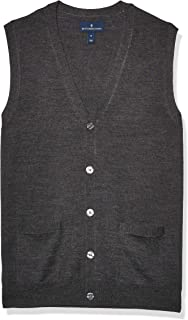 Amazon Brand - BUTTONED DOWN Men's Italian Merino Wool Lightweight Cashwool Button-Front Sweater Vest