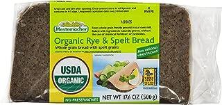 Mestemacher Bread, Organic Rye & Spelt, 17.6 Ounce Packages (Pack of 12)