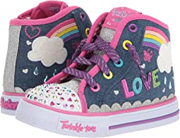 SKECHERS KIDS Twinkle Toes: Shuffles - Sparkle Skies 10874N Lights (Toddler/Little Kid)