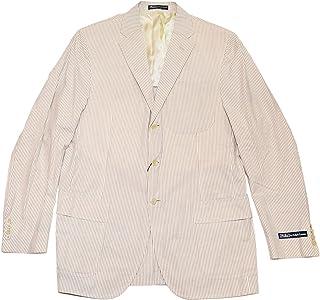 4a06251ba Ralph Lauren Polo Mens Seersucker Cotton Blazer Sport Coat Jacket Italy  Brown 42