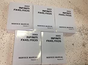 2003 Infiniti FX45 FX35 FX 35 FX 45 Service Repair Shop Workshop Manual Set OEM