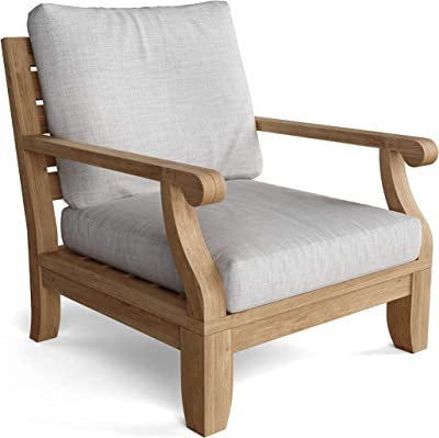 """Anderson Teak DS-601 Luxe Riviera Modular Armchair, 31"""" W 32"""" D 32"""" H, Natural Finish"""