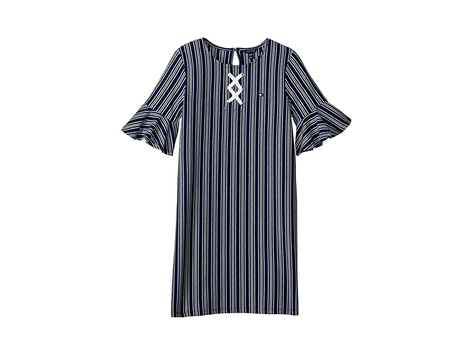 Tommy Hilfiger Kids Yarn-Dye Lace-Up Dress (Big Kids) (Flag Blue) Girl