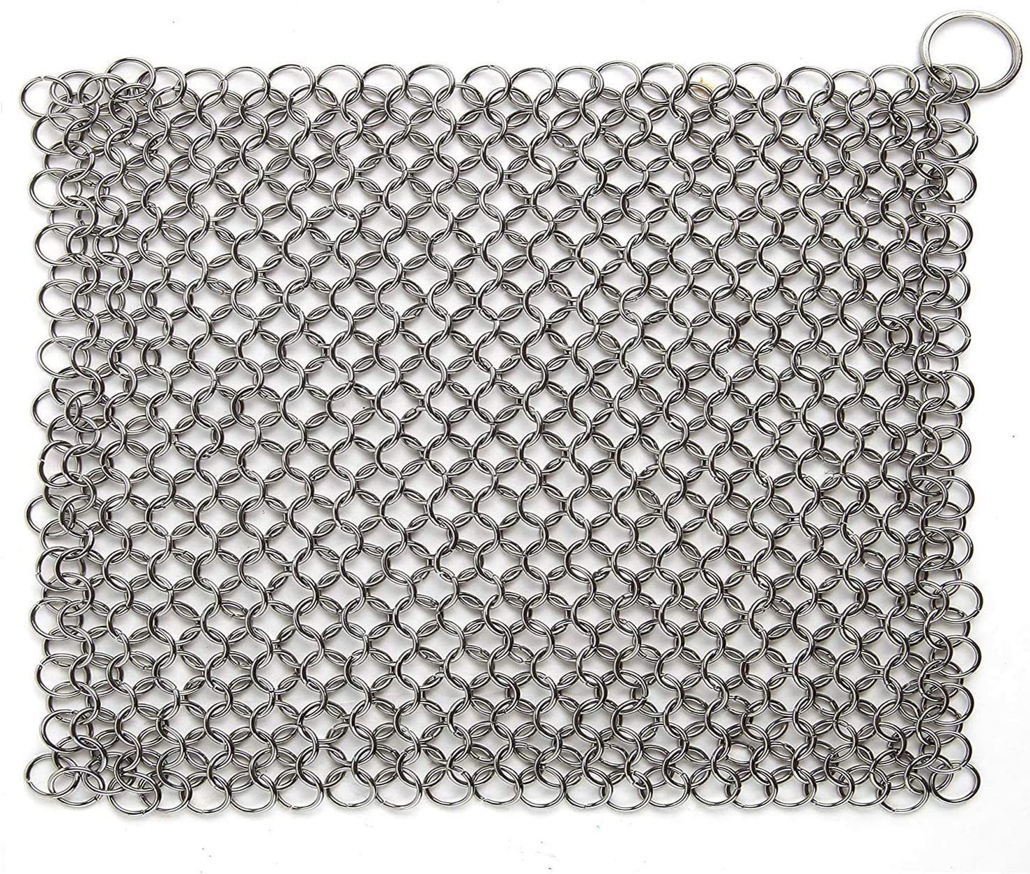 Hulless Chainmail New mail order Many popular brands Scrubber 8x6 inch Cast Iron Steel Stainless Cl