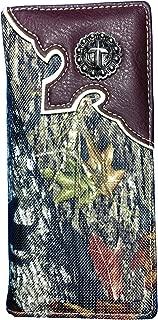BT Outdoors Mossy Oak Camo Check Book Wallet Long Western Style Camo Wallet