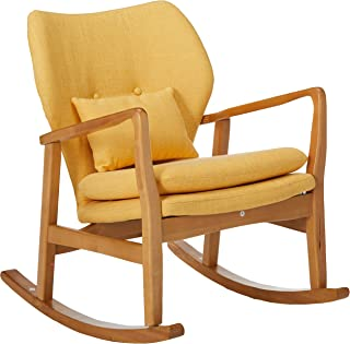 Christopher Knight Home Balen Mid Century Modern Fabric Rocking Chair (Muted Yellow)