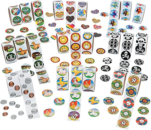 Mega Sticker Assortment - 25 rolls by Fun Express