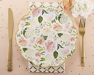 Kate Aspen, Floral Paper Plates, Disposable Dinnerware Set (Set of 8)