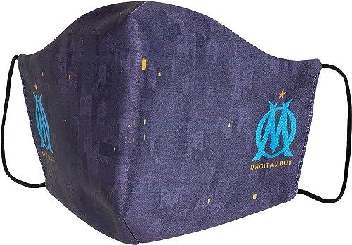 OLYMPIQUE DE MARSEILLE Masque Anti Projection Réutilisable Lavable Om - Collection Officielle