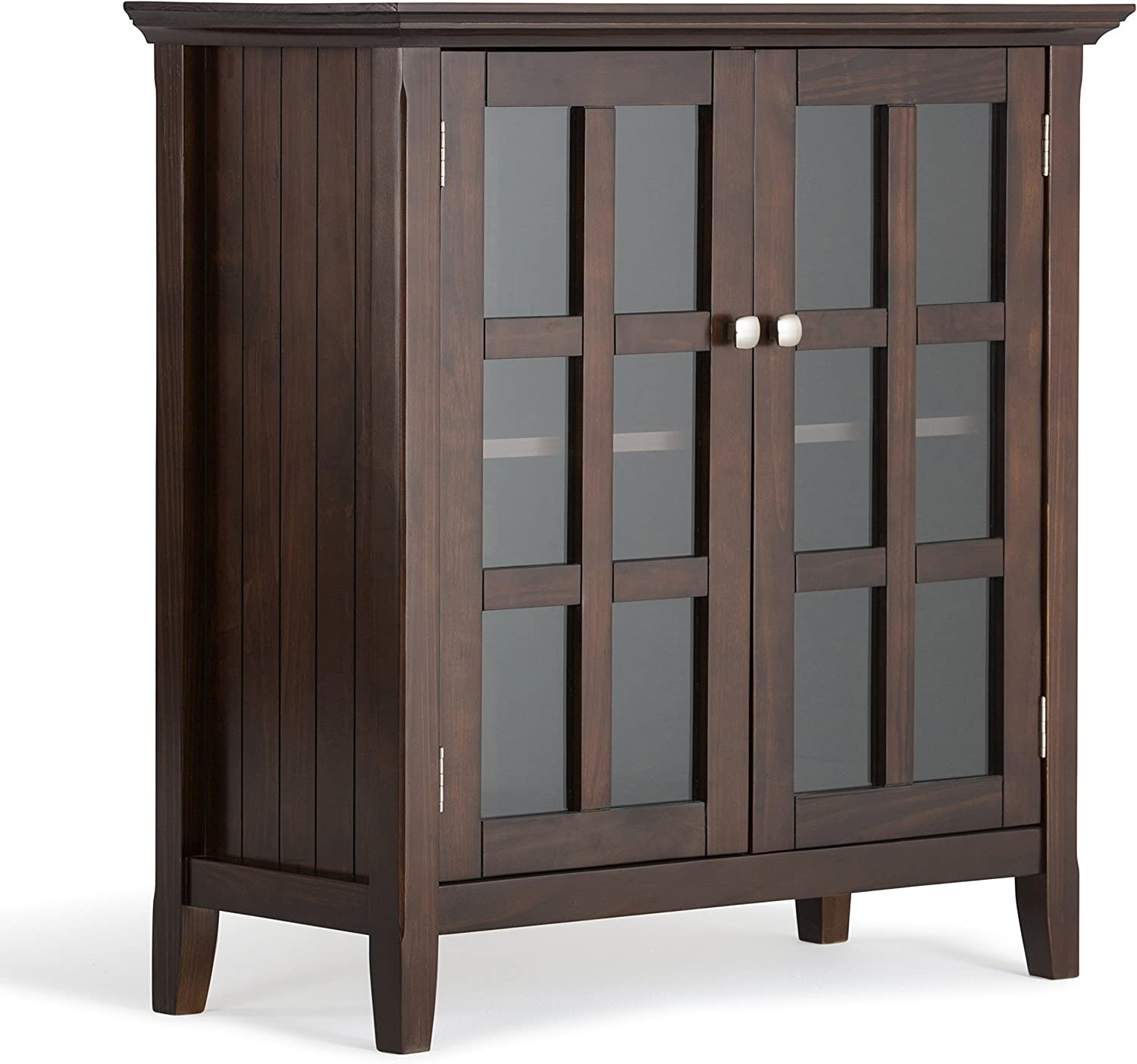 SIMPLIHOME Tucson Mall Acadian SOLID WOOD 35 inch Storage Wide Ca Rustic Low Free shipping on posting reviews