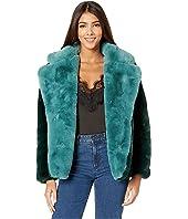 Kendall Color Block Faux Fur Coat